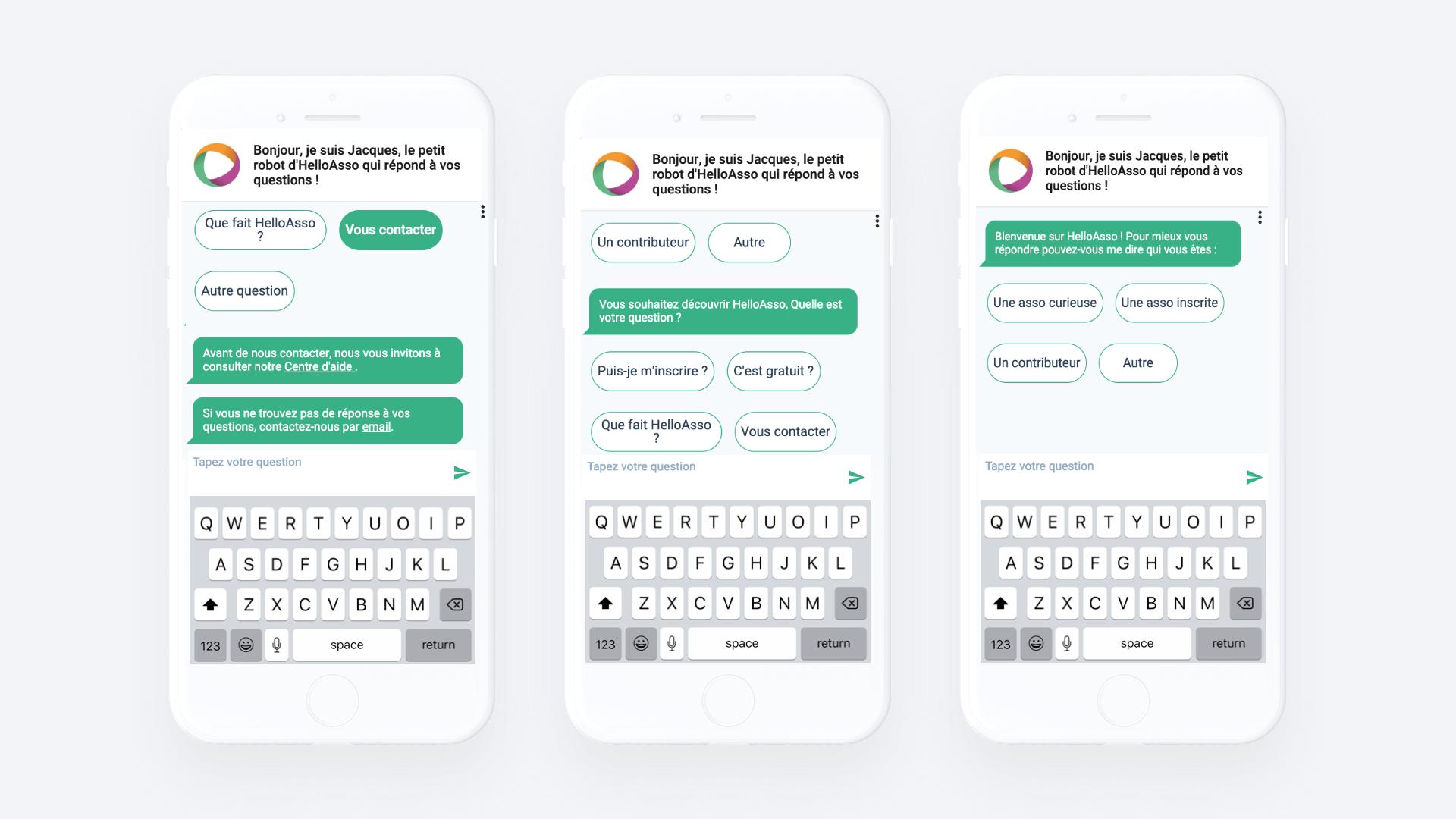 HelloAsso chatbot Clustaar bot platform