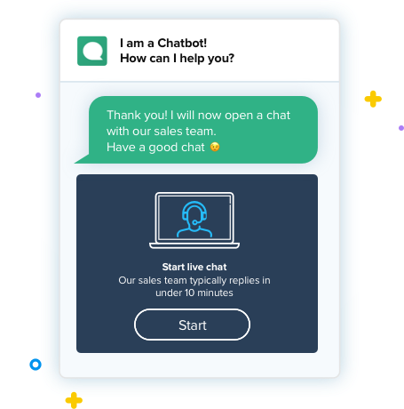 Clustaar Lead generation chatbot