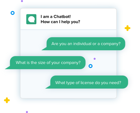 Generate leads sales funnel Clustaar chatbot